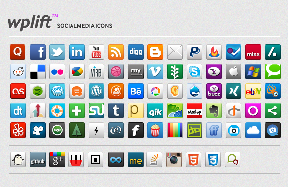 Social Media Icon Pack Updated - Kooc